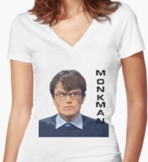 University Challenge Personalities - The Monkman Women's Fitted V-Neck T-Shirt