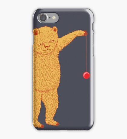Bear with Yoyo Skills iPhone Case/Skin