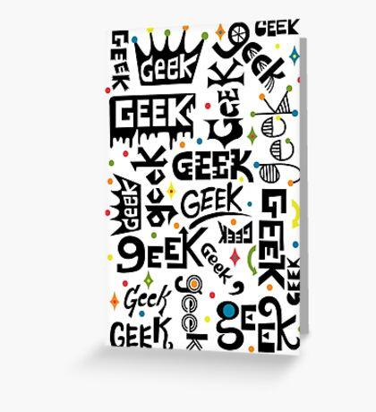 Geek Words Greeting Card