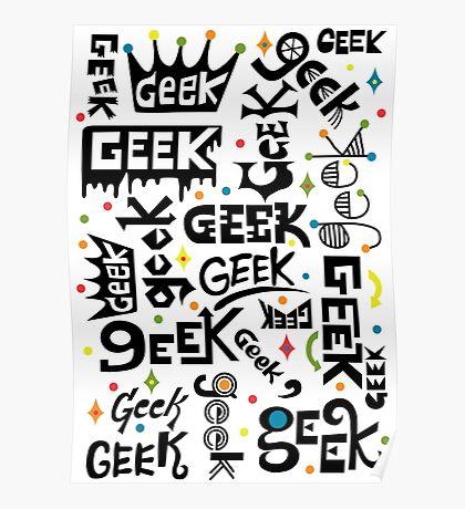 Geek Words Poster