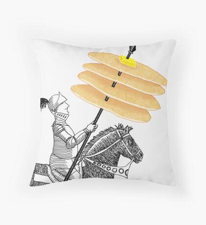Knight of Pancakes Breakfast Tarot Throw Pillow