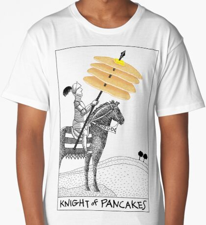 Knight of Pancakes Breakfast Tarot Long T-Shirt