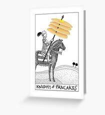Knight of Pancakes Breakfast Tarot Greeting Card