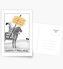 Knight of Pancakes Breakfast Tarot Postcards