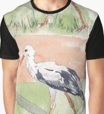 White Stork (Ciconia ciconia) Graphic T-Shirt