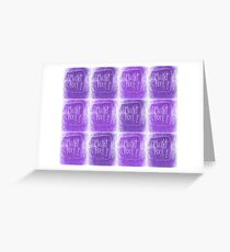 Blanket Fort Purple2 Greeting Card