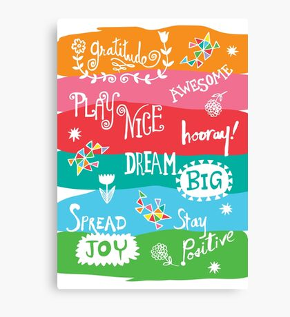 Woo Hoo Words Canvas Print