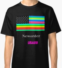 Joy Division New ORDER Technique EP 1989 Flag tour Promo Shirt Classic T-Shirt