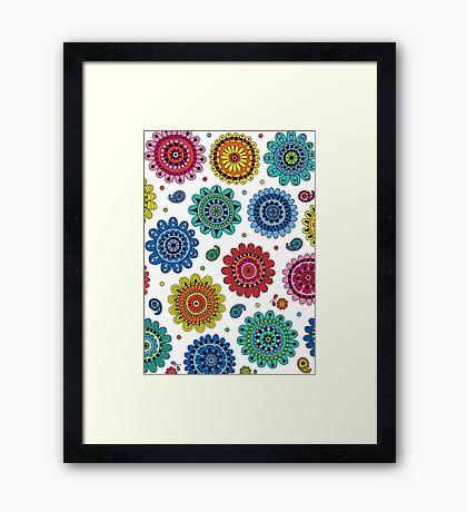 Flowers of Desire white Framed Print
