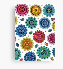 Flowers of Desire white Canvas Print