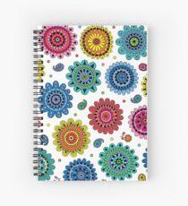 Flowers of Desire white Spiral Notebook