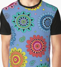 Flowers of Desire blue Graphic T-Shirt