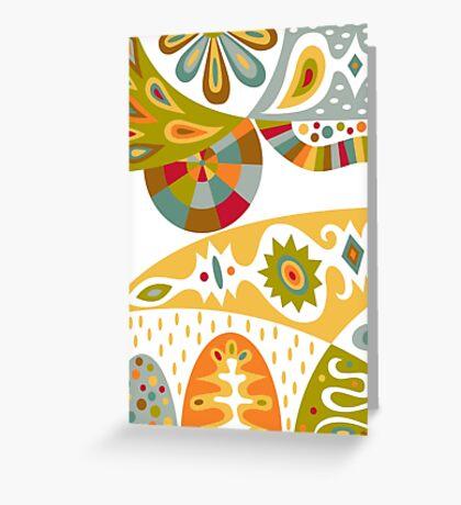 Bohemian white Greeting Card
