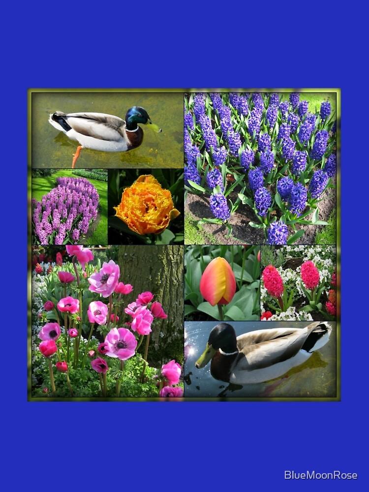 Flowers and Feathers - Keukenhof Collage von BlueMoonRose