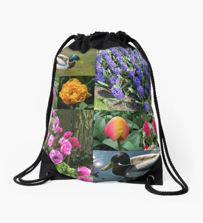 Flowers and Feathers - Keukenhof Collage Turnbeutel