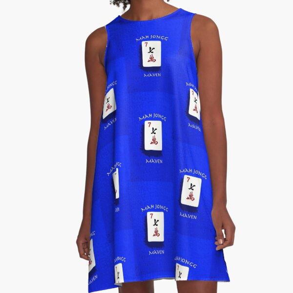 "Lucky Seven ""Mah Jongg Maven"" #7 ~ Mah Jongg Series A-Line Dress"