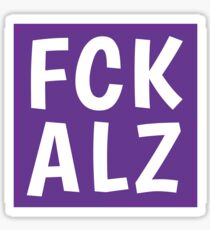 FCK ALZ Sticker (Dark Background) Sticker