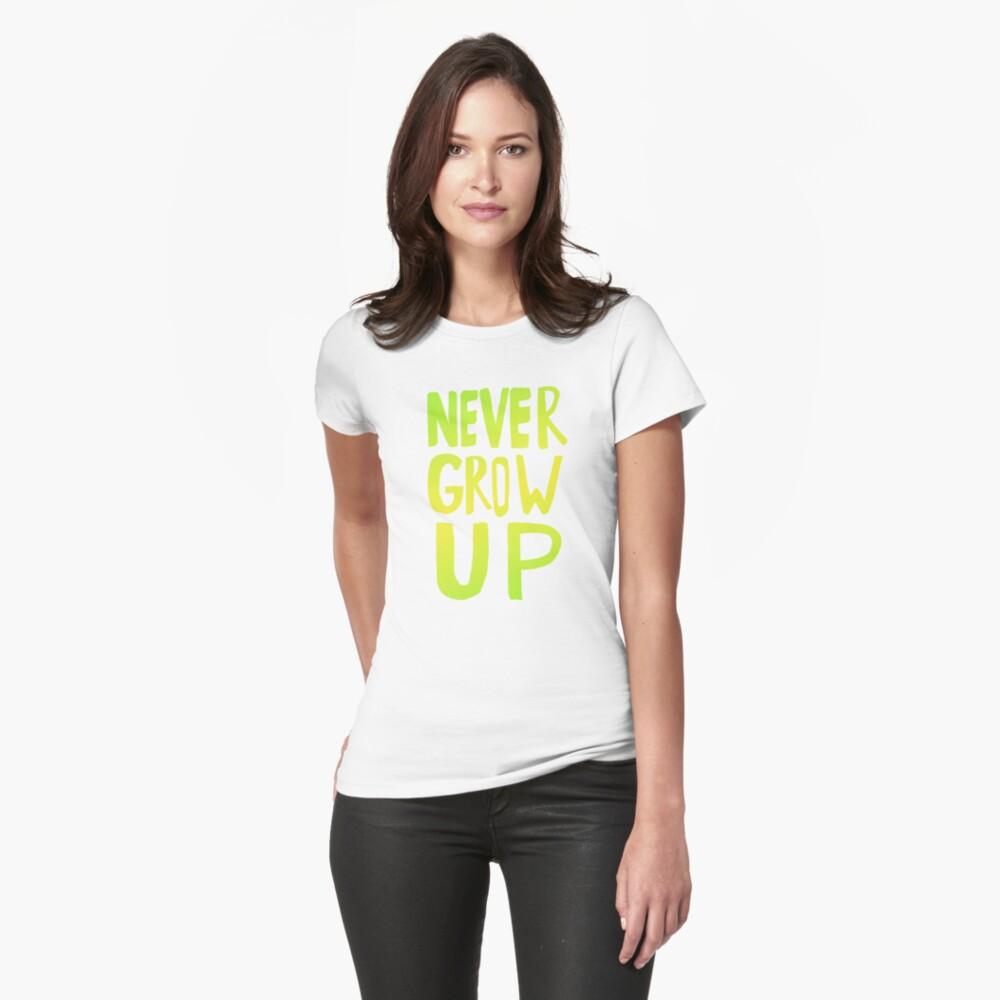 Never Grow Up III Womens T-Shirt Front