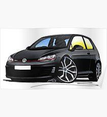 VW Golf (Mk7) GTi Black Poster
