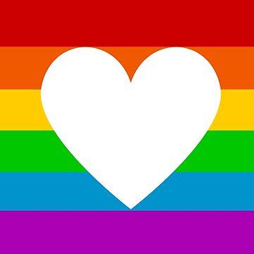 rainbow heart by IdeasForArtists