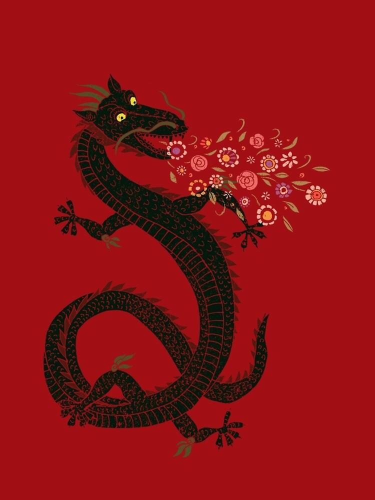 Dragon, Flower Breathing by SusanSanford