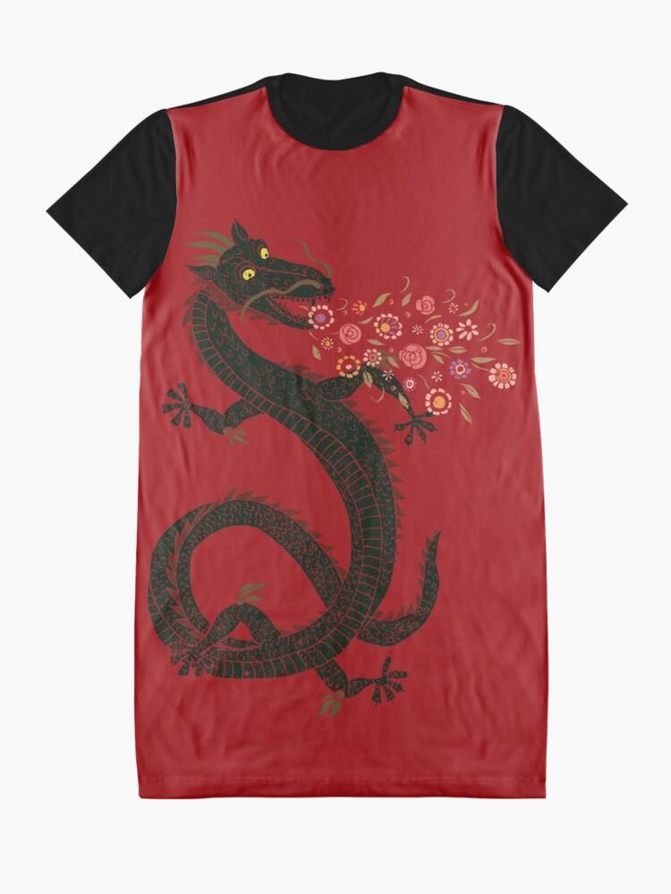 Alternate view of Dragon, Flower Breathing Graphic T-Shirt Dress