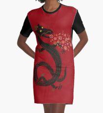 Dragon, Flower Breathing Graphic T-Shirt Dress