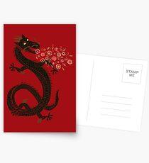 Dragon, Flower Breathing Postcards