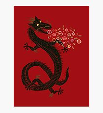 Dragon, Flower Breathing Photographic Print