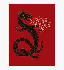 Dragon, Flower Breathing Photographic Print