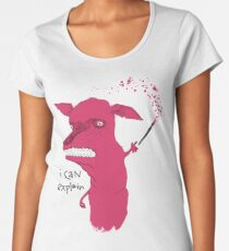 Bad Explanation Art Dog Women's Premium T-Shirt
