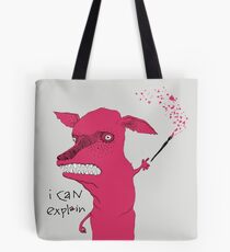 Bad Explanation Art Dog Tote Bag