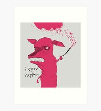 Bad Explanation Art Dog Art Print