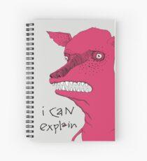 Bad Explanation Art Dog Spiral Notebook