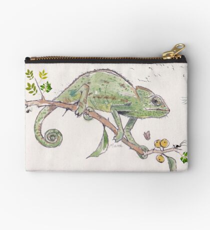 The colourful world of Chameleons Zipper Pouch
