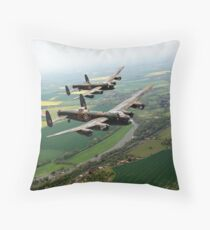 Two Lancasters over the Upper Thames Throw Pillow