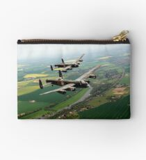 Two Lancasters over the Upper Thames Studio Pouch