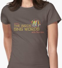 Tiki Room-Where the Birds Sing Words Women's Fitted T-Shirt