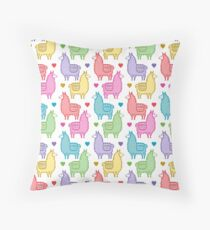 Llama Love Throw Pillow