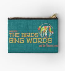 Tiki Room-Where the Birds Sing Words Zipper Pouch