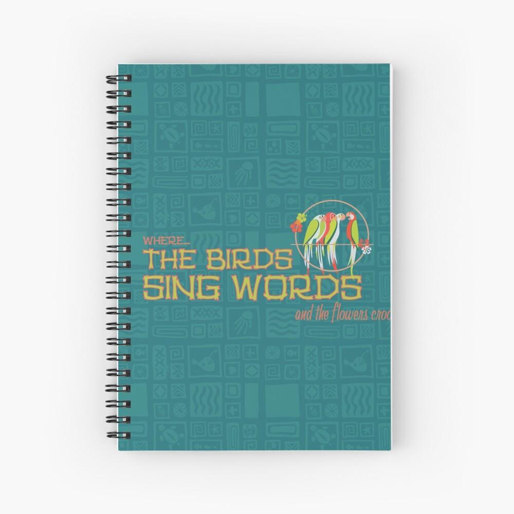 Tiki Room - Wo die Vögel Worte singen Spiralblock