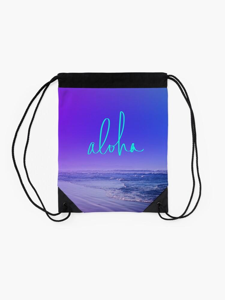 Alternate view of Aloha Drawstring Bag