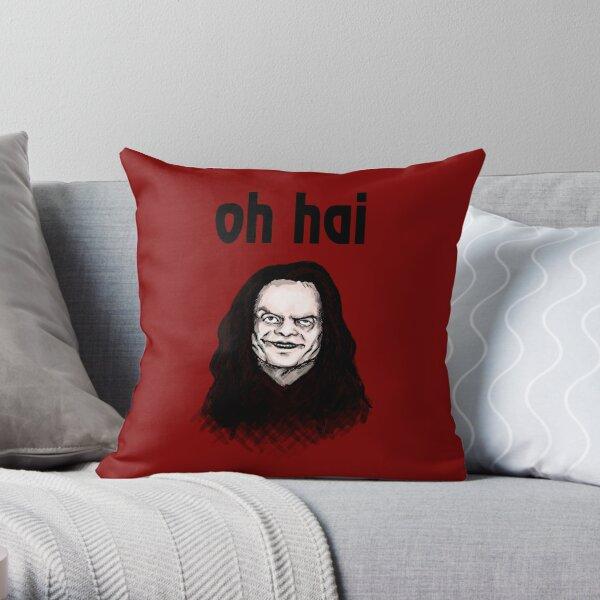 """Oh Hai""  Throw Pillow"