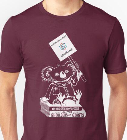 March for Science Brisbane – Koala, white T-Shirt