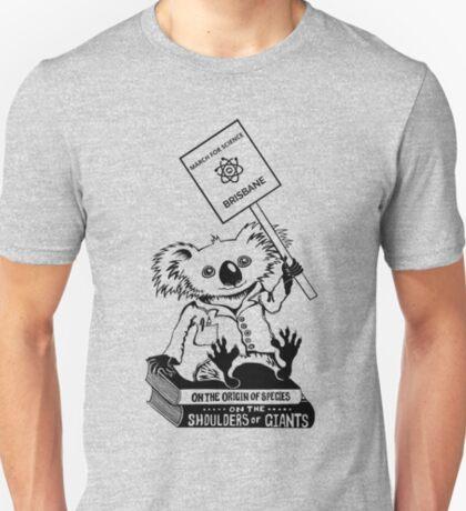 March for Science Brisbane – Koala, black T-Shirt