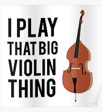 Póster Juego esa gran cosa del violín