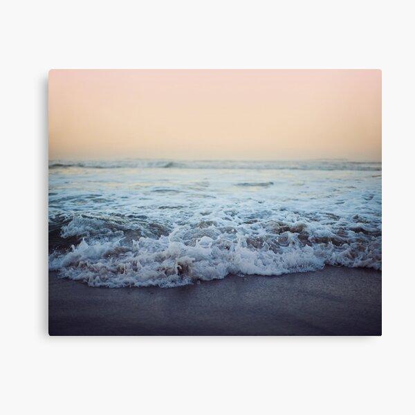 Crash into Me - Ocean Photograph of the Oregon Coast Canvas Print