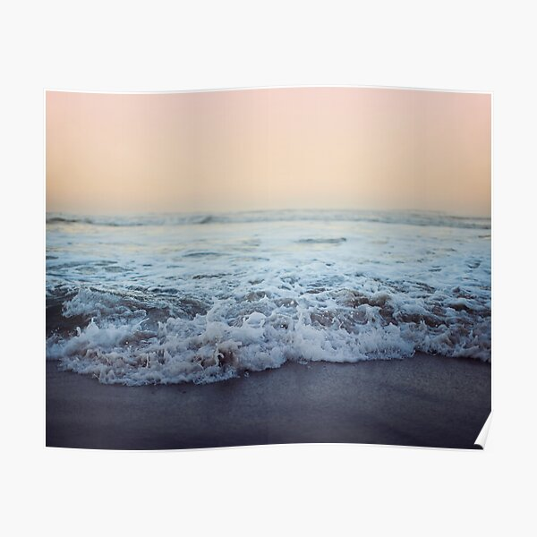 Crash into Me - Ocean Photograph of the Oregon Coast Poster