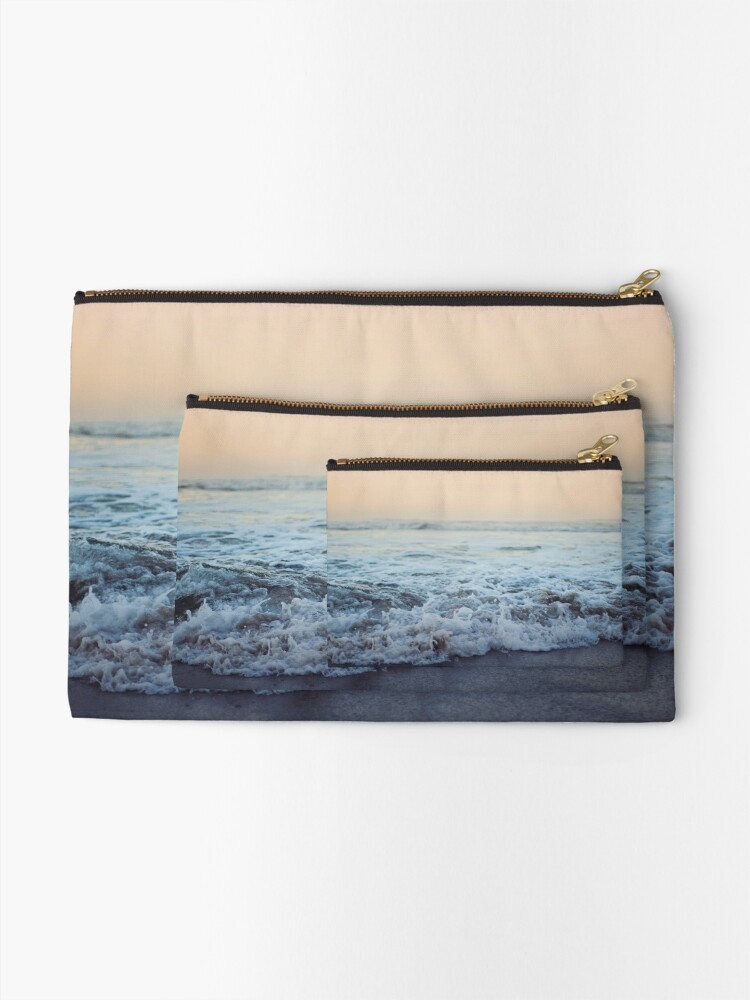 Alternate view of Crash into Me - Ocean Photograph of the Oregon Coast Zipper Pouch