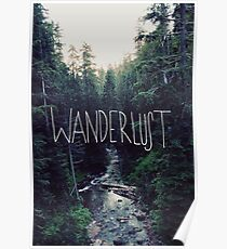Wanderlust Rainier Creek Poster